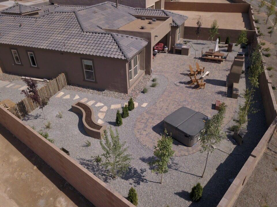 Santa fe Landscaping picture of pavers and hardscaping - extrascapes